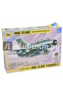 Современный истребитель МИГ-21БИС (7259)Пластиковые модели: Авиатехника (1:72)<br>МиГ - 21 БИС - истребитель завоевания превосходства в воздухе, поставлялся ВВС СССР и ряду зарубежных стран. Сирийская авиация активно применяла МиГ -21 БИС во время боевых действий в Ливане (1979-1983 гг.). Наибольшее количество Миг-21 БИС получили ВВС Индии. На сегодняшний момент МиГ-21 БИС продолжает стоять на вооружении ВВС стран СНГ и многих других государств.<br>Набор собирается при помощи специального клея, выпускаемого предприятием Звезда. <br>Клей и краски продаются отдельно от набора.<br>Сборная модель:<br>- Идеально подходит для подарка;<br>- Развивает интеллектуальные и инструментальные способности, воображение и конструктивное мышление;<br>- Соответствует требованиям безопасности.<br>Набор деталей для сборки одной модели самолета.<br>Количество деталей: 90<br>Длина собранной модели: 20,9 см.<br>Масштаб: 1:72.<br>Не рекомендуется детям до 3-х лет.<br>Моделистам до 10 лет рекомендуется помощь взрослых.<br>ГОСТ 25779-90<br>Сделано в России.<br>