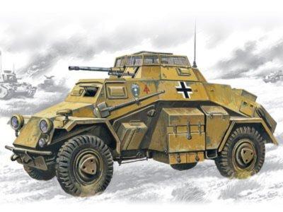 Иллюстрация 1 из 2 для Sd.Kfz.222 Нем. легкий бронетранспортер (72411) | Лабиринт - игрушки. Источник: Лабиринт