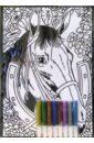 Бархатная раскраска: Лошадь  ...