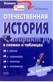 Кириллов Виктор Васильевич Отечественная история в схемах и таблицах
