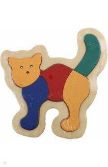 Кошка (D152)Сборные 2D модели и картинки из дерева<br>Сборная модель. <br>Игрушка предназначена для детей старше 3 лет. <br>Срок годности 5 лет. <br>Производство: Китай.<br>Материал: дерево.<br>