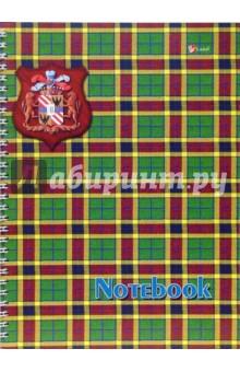 Тетрадь 80 листов, клетка, А4 (ТБС1801091) Шотландка зеленая