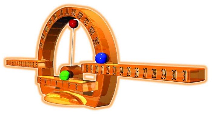 Иллюстрация 1 из 3 для Магнитный календарь (28705)   Лабиринт - игрушки. Источник: Лабиринт