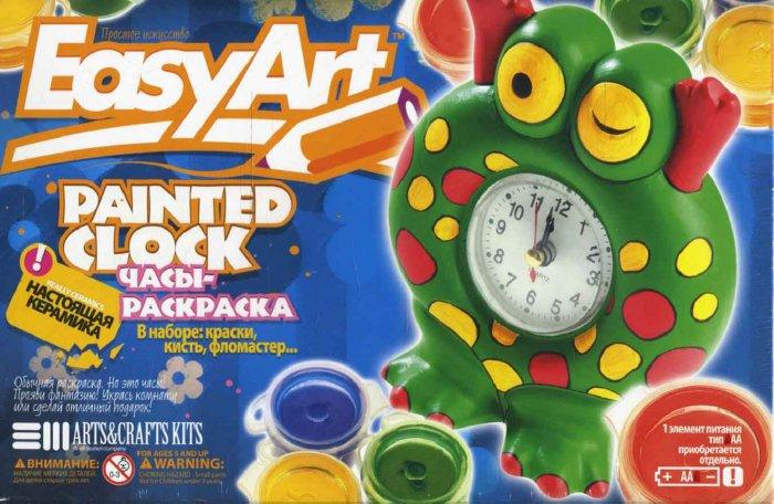 """Иллюстрация 1 из 2 для Часы-раскраска """"Лягушонок"""" 787025   Лабиринт - игрушки. Источник: Лабиринт"""