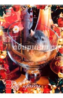 Календарь 2008 год. (КРС-08001-21) Год крысы 330х480