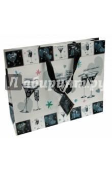 Пакет подарочный Wedding GlassesПодарочные пакеты<br>Бумажный, глянцевый подарочный пакет Wedding Glasses с шелковыми ручками.<br>Размер: 32,4х11,4х26,4 см.<br>Произведено в Корее.<br>Срок годности не ограничен.<br>