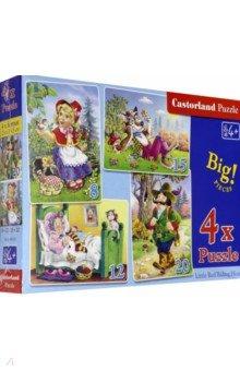Puzzle-8х12х15х20 Красная шапочка (4 в 1) (В-04058)Наборы пазлов<br>Пазлы-мозаика для детей.<br>В наборе 4 картинки: по 8, 12, 15, 20 элементов. <br>Правила игры: вскрыть упаковку и собрать игру по картинке.<br>Картинка: Красная шапочка.<br>Размер собранных картинок: 23х16,5 см.<br>Не давать детям до 3-х лет из-за наличия мелких деталей.<br>Срок годности не ограничен.<br>Производитель: Польша.<br>
