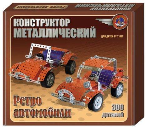 Иллюстрация 1 из 11 для Конструктор металлический: Ретро автомобили (300 элементов) (00950) | Лабиринт - игрушки. Источник: Лабиринт