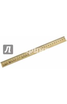 Линейка 30 см. деревянная (С07) МД НП Красная звезда