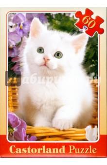 Puzzle-60. Белый котенок (В-06335)