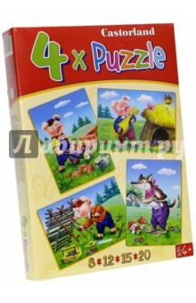 "Puzzle-8*12*15*20 ""Три поросенка"" (4 в 1) (В-04065)"