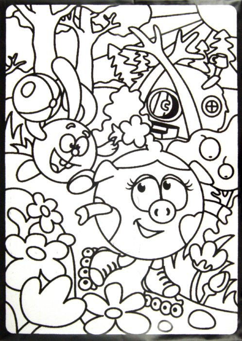 Иллюстрация 1 из 4 для Бархатная картинка. Нюша на роликах | Лабиринт - игрушки. Источник: Лабиринт