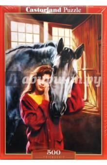 Puzzle-500. Девушка с лошадью (В-51236)