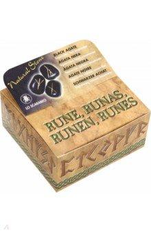 Руны каменные. Черный агат. Воспроизводство, доверие, концентрация (RUNE 01K)Гадания. Карты Таро<br>Руны из черного агата.<br>Для смыслового толкования с помощью рунических символов.<br>Упаковка: картонная коробка.<br>Производство: Италия<br>