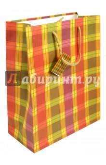 """Пакет подарочный """"Шотландка"""""""