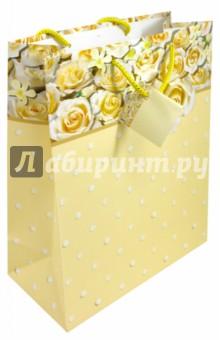 Пакет подарочный СвадебныйПодарочные пакеты<br>Пакет подарочный <br>Бумажный, матовый<br>Размер: 26 х 32,4 х 12,7 см.<br>Производство: Китай<br>