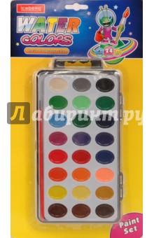 Краски акварельные сухие. 24 цвета
