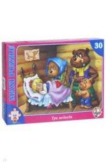 Пазл-30 макси. Три медведя (00259)Пазлы (Maxi)<br>Макси-пазл Три Медведя.<br>Пазл состоит из 30-ти элементов.<br>Размер готовой картинки 21,5х30 см.<br>Игрушка для детей от трех лет из бумаги и картона предназначена для игры внутри помещений.<br>Не рекомендуется детям младше 3-х лет.<br>Срок годности не ограничен.<br>