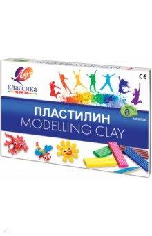 "Пластилин ""Классика"". 8 цветов (12С 867-08) Луч"