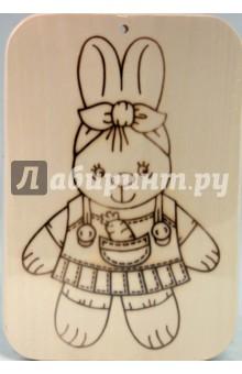 Доска под роспись с контуром Зайка (Д-379)