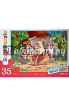 MAXI пазл Под грибом (35 элементов) (91302)Пазлы (Maxi)<br>Пазл состоит из 35 элементов.<br>Размер собираемой картинки: 680х480 мм.<br>Не рекомендовано детям до 3-х лет.<br>Содержит мелкие детали.<br>Производитель: Россия.<br>