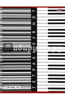 Тетрадь для нот 24 листа А4 (24ТдН4сп_1872,3,4039) Хатбер