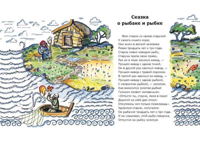 пушкин стихи о рыбаке