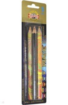 Карандаши 5 цветов Magic (3406)Цветные карандаши 6 цветов (4—8)<br>Цветные карандаши цвета радуги - 3 цвета в одном карандаше.<br>Количество штук в упаковке: 5.<br>Упаковка: картонная коробка с блистером.<br>Производство: Чешская республика.<br>