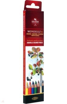 Карандаши акварельные Натюрморт (6 цветов) (3715)Цветные карандаши 6 цветов (4—8)<br>Акварельные цветные карандаши.<br>Количество штук в упаковке: 6.<br>Количество цветов: 6.<br>Производство: Чешская республика.<br>