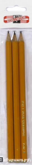 Иллюстрация 1 из 8 для Карандаши чернографитные разной твердости (3 шт.) (1500/3) | Лабиринт - канцтовы. Источник: Лабиринт