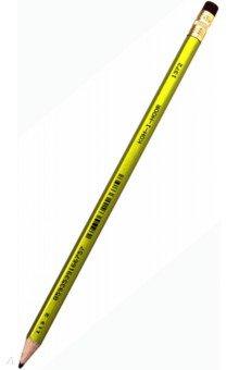 Карандаш чернографитный Oriental (с ластиком), в ассортименте (1372/2НВ)