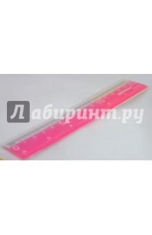 Линейка 15 см, цветная флуоресцентная (HPL-06A09)