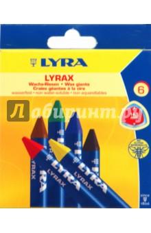Восковые мелки 6 цветов (5701060/790К06) LYRA