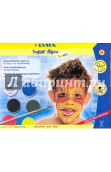 Краски 6 цветов грим-Боди-Арт Super Aqua basic (0713061)