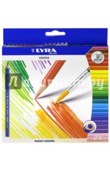 Карандаши акварельные Osiris (24 цвета) (2531240)Цветные карандаши более 20 цветов<br>Цветные акварельные карандаши.<br>Карандаши трехгранные.<br>Ширина стержня: 3 мм.<br>Количество цветов: 24. <br>В наборе есть кисточка.<br>Упаковка: картонная коробка с блистером.<br>Для детей от 3-х лет, или ранее под присмотром родителей.<br>Сделано в Китае.<br>