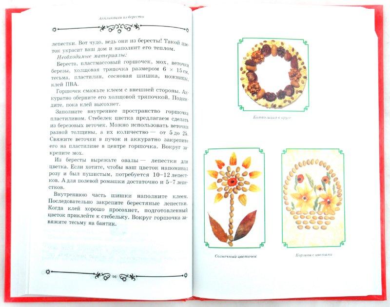 Иллюстрация 1 из 49 для Большая книга аппликаций из природных материалов - Наталия Дубровская | Лабиринт - игрушки. Источник: Лабиринт