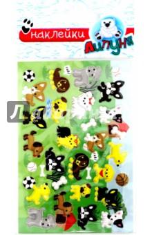 Собаки (MMS002)Наклейки детские<br>Эксклюзивное предложение - интересный, мягкий и воздушный как зефир материал, высокое качество изображения и цветопередачи, широкий выбор тематик и форм. Безграничные возможности применения для обучения и творчества. Многократное переклеивание без потери качества! Не оставляют следов на одежде!<br>Материал: полиэфирные смолы.<br>Упаковка: блистер<br>Произведено: Китай<br>