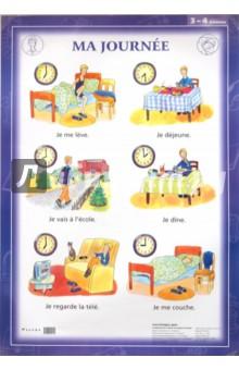 Французский язык. Распорядок дня. 3-4 классы (1). Стационарное учебное наглядное пособие