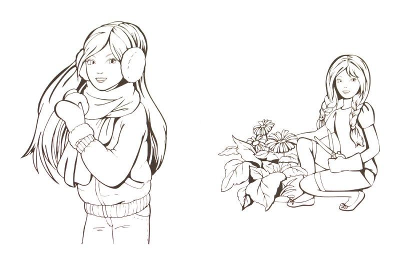 Из 16 для раскраска для девочек выпуск