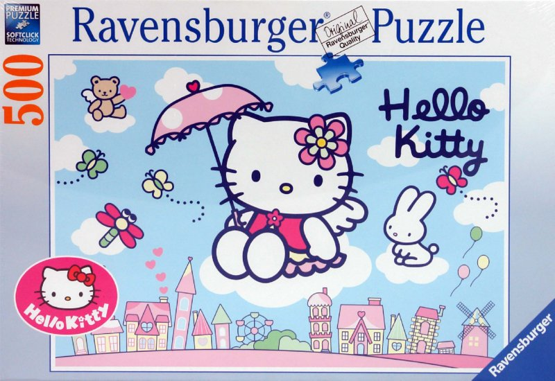"Иллюстрация 1 из 6 для Пазл-500 ""Hello Kitty"" (145751) | Лабиринт - игрушки. Источник: Лабиринт"