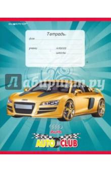 """Тетрадь """"Auto club"""" 12 листов, клетка (721081-15)"""