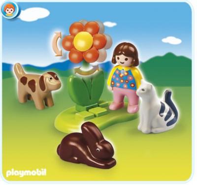 Иллюстрация 1 из 8 для Девочка с домашними животными (6763)   Лабиринт - игрушки. Источник: Лабиринт