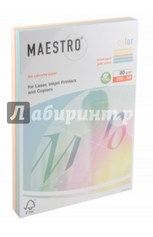 Бумага А4 MAESTRO COLOR MIX PALE, 5 цветов (080-0211)