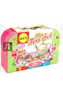 Чайный сервиз Весна (металлический, 16 предметов) (705W)Наборы игрушечной посуды<br>Чайный сервиз из металла в красивом чемоданчике.<br>В наборе: поднос, чайник, 4 чашки, 4 тарелочки, 4 блюдца.<br>Материал: металл.<br>Для детей от 3-х лет.<br>Сделано в Китае.<br>