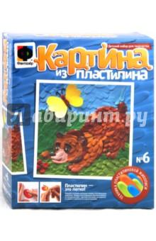 Картина из пластилина Мишка-Лакомка (447006)