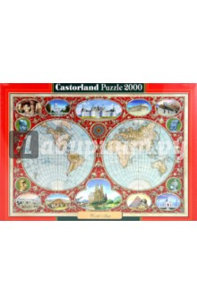 "Puzzle-2000. ""Карта мира"" (C-200337-NEW)"