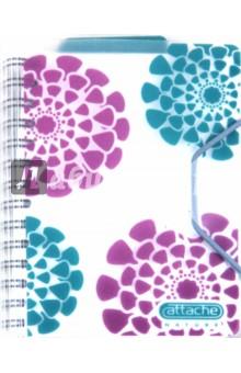 """Записная книжка Nature А6, 80 листов, клетка """"Цветы"""" (102442)"""
