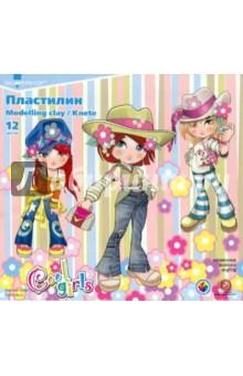 Пластилин 12 цветов Cool girls (951145-38)