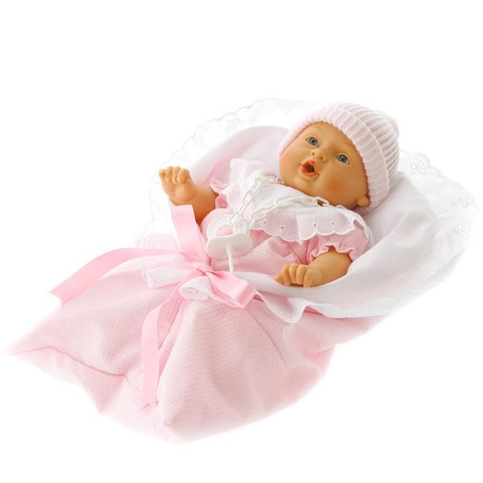Иллюстрация 1 из 3 для Кукла-младенец Мило в розовом, плачет (26 см) (4406Р) | Лабиринт - игрушки. Источник: Лабиринт