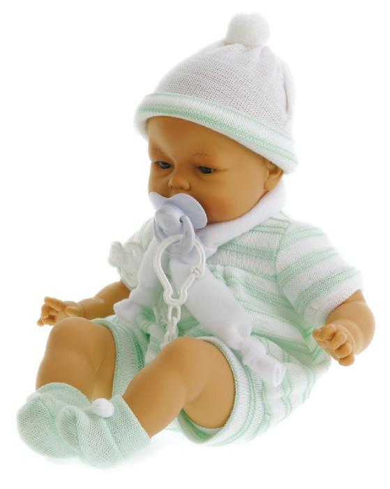 Иллюстрация 1 из 2 для Кукла-младенец Карино в зеленом, плачет (40см) (5501G) | Лабиринт - игрушки. Источник: Лабиринт